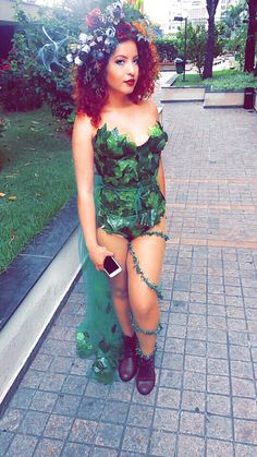 Diy Poison ivy costume, hair and makeup