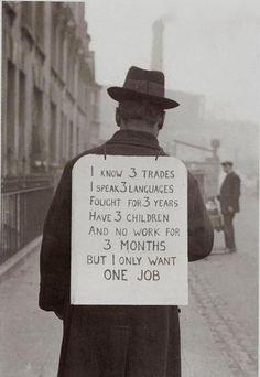Job hunting in London, 1935