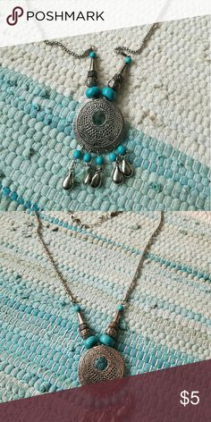 3 for $12 Necklace Bundle 3 for $12  Blue and silver asking 5! Jewelry Necklaces