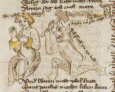 Thomasin <Circlaere>   Welscher Gast (b) Nordbayern (Eichstätt?), um 1420 Cod. Pal. germ. 330 Folio 40r