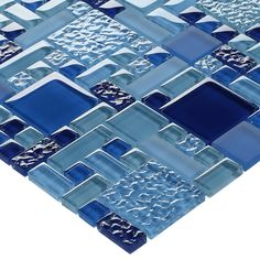 Glass Pool Mosaic Tile Multi Blue Random with its color pattern and finish makes it an excellent choice for swimming pool, bathroom, and shower walls as well as kitchen backsplash.