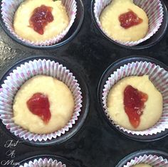 Donut Muffins with Jam Centre! - Just a Mum Donut Muffins, Thing 1, Pastry Brushes, Quick Bread, Confectionery, Doughnuts, Cheesecake, Cooking Recipes, Sweets
