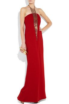 Scarlet crepe column dress from Adam. As simple as it gets. Lovely.