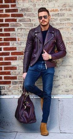 Cómo combinar una chaqueta burdeos (198 looks de moda)  52c9af5b9cd0