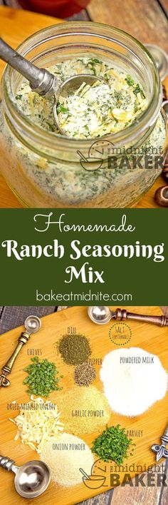 you're watching your sodium intake, this ranch seasoning mix is for you! If you're not then just add some salt!If you're watching your sodium intake, this ranch seasoning mix is for you! If you're not then just add some salt! Low Salt Recipes, Low Sodium Recipes, Diet Recipes, Cooking Recipes, Healthy Recipes, Smoker Recipes, Cooking Tips, Homemade Ranch Seasoning, Gastronomia