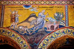 Byzantine mosaics in the Cathedral of Monreale - The Sacrifice of Isaac - Palermo