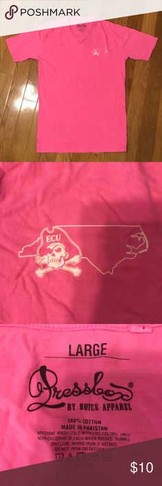"""Negotiable East Carolina university (ECU) tee You can't spell """"parties"""" without PIRATES! I'm interested in any offers. Everything is negotiable. Tops Tees - Short Sleeve"""