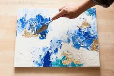 This is a tutorial that describes how anyone can make their own masterpiece of abstract art. It happens to be very easy and fast DIY Abstract Artwork Tutorial. Easy Canvas Art, Acrylic Painting Canvas, Diy Painting, Gold Leaf Art, Foil Art, Gold Diy, Diy Wall Art, Art Plastique, Art Tutorials