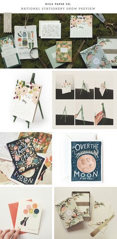 My absolute favorite papergoods company --- Rifle Paper Co. - 2012 National Stationery ShowPreview