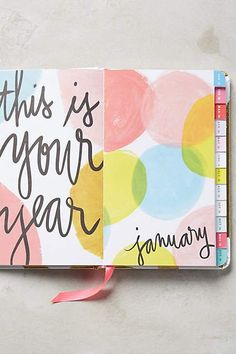 2016 ban.do planner - title page idea for my Bullet Journal!