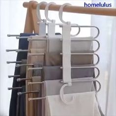 Multi-Functional Pants RacK Space Saving Design: The adjustable storage rack can be hung steadily with two hooks or it can be hung vertically, it can hold up to 5 pairs of pants at one time and it will make your closet tidier. Bedroom Closet Design, Closet Designs, Diy Bedroom, Dream Bedroom, Bedroom Closet Storage, Bedroom Closets, White Bedroom, Bedroom Ideas, Organiser Son Dressing