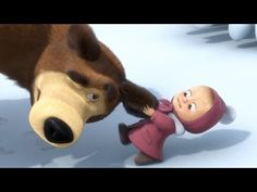 Masha and the Bear - Tracks of Unknown Animal ^super cute Disney Pixar, Masha And The Bear, Animal 2, Grab Bags, Super Cute, Teddy Bear, Cartoon, Toys, Children