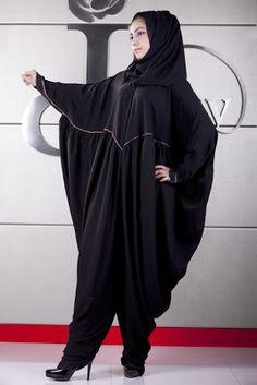 Interesting harem pants style abaya!