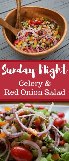 Sunday Night Celery and Red Onion Salad