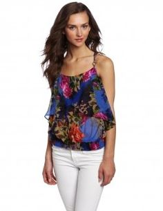 Blue Print Top. Pretty and feminine.