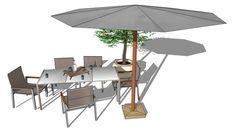 Salon de jardin Antalya, Maisons du Monde 3D 模型的大型預覽
