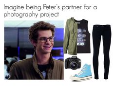 """Peter Parker imagine"" by marvelteen ❤ liked on Polyvore featuring AG Adriano Goldschmied, Converse, Eos, Forever 21, James Perse, women's clothing, women, female, woman and misses"