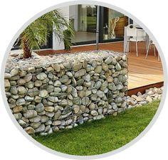 Gabionen und Steinkörbe bauen und montieren Outdoor Furniture, Outdoor Decor, Firewood, Home Decor, Horticulture, Basket, Stones, Deko, Woodburning