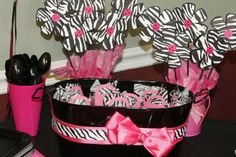 Baby Shower Party | ZEBRA PRINT balloon baby shower birthday party supplies decorations ...