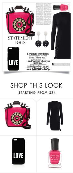 """Statement bag/Call me"" by im-karla-with-a-k ❤ liked on Polyvore featuring Betsey Johnson, Miss Me, Givenchy, Deborah Lippmann and Oscar de la Renta"