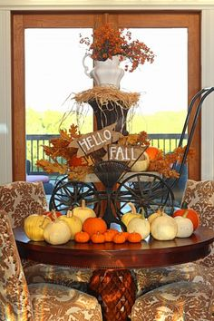Fall decoration #fall #decoration #centerpiece