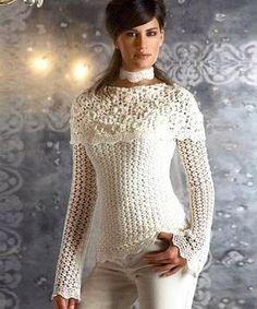 crochelinhasagulhas: Blouse crochet Vanessa Montoro
