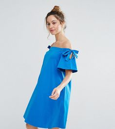 Get this Asos Maternity's casual dress now! Click for more details. Worldwide shipping. ASOS Maternity Off Shoulder Dress with with Tie Sleeve Detail - Blue: Maternity dress by ASOS Maternity, Soft-touch jersey, Off-shoulder design, Stretch trims, Tie-shoulder detail, Relaxed fit, Designed to fit through all stages of pregnancy, Machine wash, 96% Cotton, 4% Elastane, Our model wears a UK 8/EU 36/US 4 and is 173cm/5'8 tall. Maternity dressing gets bumped up to next-level status with the ASOS…