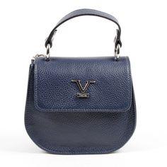 2a9a2b03c78 V 1969 Italia Womens Handbag Blue DUBLINO Calf Leather, Women Accessories,  Italia, Color
