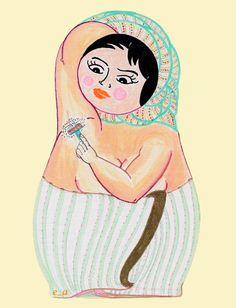 The Babushka Project: Under-Arm Shaving.  by Eleftheria Alexandri, via Behance