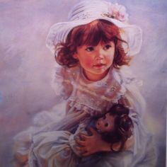 """Sandra Kuck """"A Friend for Keeps"""" .. This was a limited edition for the Sandra Kuck Collector's Club members♥"""