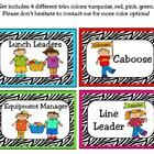 Encourage your students to become leaders using these zebra printable cards can be used to organize your student helpers. Can be used in a pocket c...