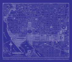 1944 denver street map vintage blueprint print poster house 2014 washington dc map street map vintage blueprint print poster malvernweather Gallery