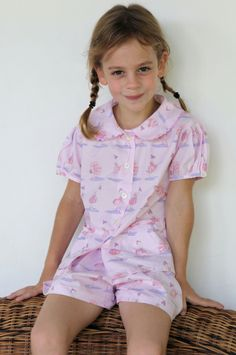 Are you interested in our girls short cotton pyjamas ballerina? With our vintage girls cotton pyjamas pink you need look no further. Cotton Pyjamas, Pajama Shorts, Vintage Girls, Our Girl, Short Girls, Pajama Set, Floral Tops, Kids Fashion, Ballerina Pink