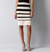 Striped Pencil Skirt from the Loft - partner this with the T-shirt pencil skirt tutorial from cotton and curls!