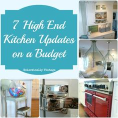 Love the Red Stove! dpj 7 High End Kitchen Updates on a Budget! These Are Easy, Cheap, & Work Beautifully for Every Kitchen ! By Eclectically Vintage Kitchen On A Budget, Kitchen Redo, Kitchen And Bath, Kitchen Remodel, Kitchen Design, Kitchen Ideas, Kitchen Inspiration, High End Kitchens, Home Kitchens