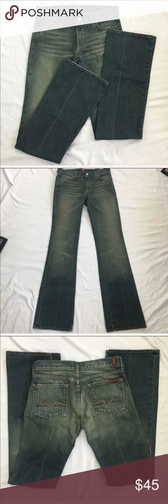 New 7 For All Mankind Boot Cut Jeans NWOT 7FAMK boot cut jeans. Size 27. 100% cotton. Please see pictures for measurements. 7 For All Mankind Jeans Boot Cut