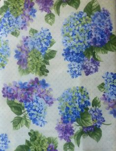 Cotton Fabric, Quilt, Home Decor, Floral, Hydrangeas by Sue Zipkin for Clothworks,Fast Shipping,F325
