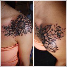 #flowers#sunflower#sunflowertattoo#tattoo #engravingtattoo#engraving #buqettattoo#vscocam #vscoexpo #flowerstattoo#blacktattoo #dotwork #annabravo