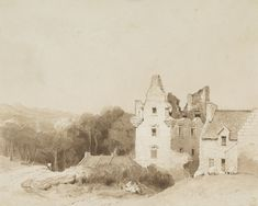 Drawing of Faside Estate in ruins. Holiday Accommodation, Edinburgh, Drawings, Painting, Beautiful, Art, Art Background, Painting Art, Paintings