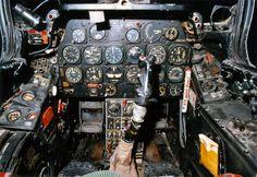 Detailed cockpit image of the North American Sabre Single-Seat, Single-Engine Jet-Powered Fighter / Fighter-Bomber Aircraft Ww2 Aircraft, Fighter Aircraft, Fighter Jets, Military Jets, Military Aircraft, Flight Deck, Korean War, Air Force, Pilot