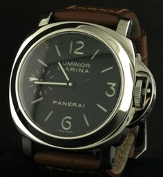 Panerai Luminor Marina PAM 111 SS skeleton back men's watch