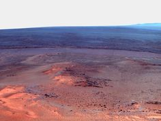 NASA - Opportunity's Eighth Anniversary View From 'Greeley Haven' (False Color)