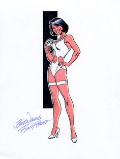 Phantom Girl.by Ron Frenz
