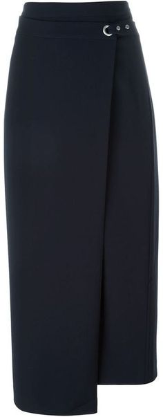 T By Alexander Wang wrap maxi skirt