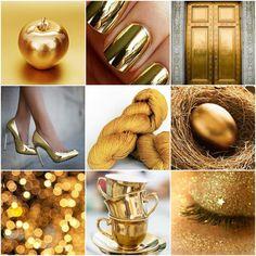 Mood Board Monday - Gold by Tanis Fiber Arts Colour Schemes, Color Trends, Color Patterns, Color Combinations, Tanis Fiber Arts, Golden Treasure, Color Studies, Golden Color, Color Theory