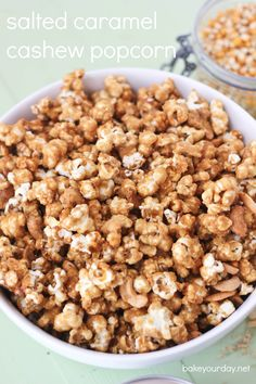 Salted Caramel Cashew Popcorn - Cooking at 350 burned it. Try at 250 next time like other recipes for caramel corn use.