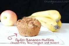 BLW-Bananen-Apfel-Muffins Breifrei, zuckerfrei, lecker! Yummy!