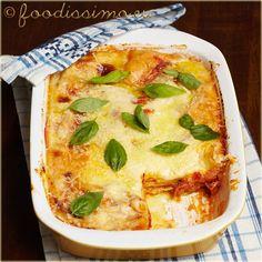 Lasagne s parmezánom a slaninkou