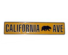 California Bear Ave street sign