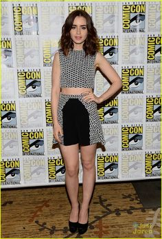 Lily Collins: 'City of Bones' Press Line at Comic-Con 2013